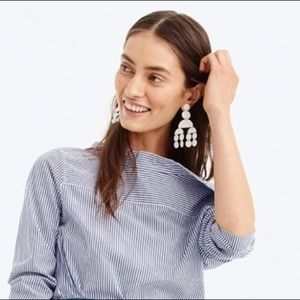 NWT • J.Crew Circle Chandelier Statement Earrings